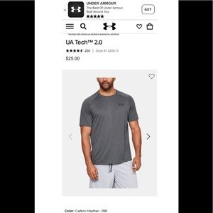 4 Under-Armour-Short-Sleeve-T-Shirt Tech 2.0 XL